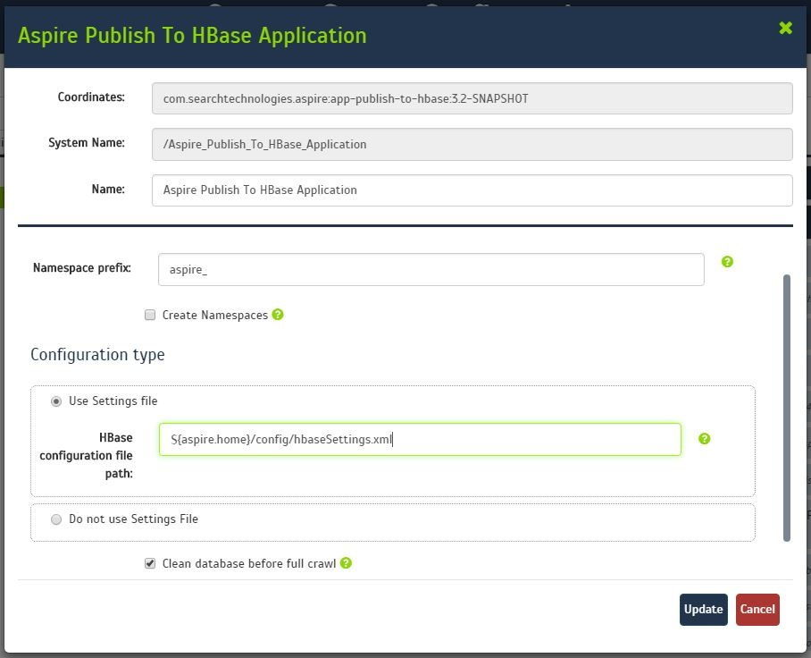 Publish to HBase How to Configure - Aspire 3 3 (Willow) - Confluence